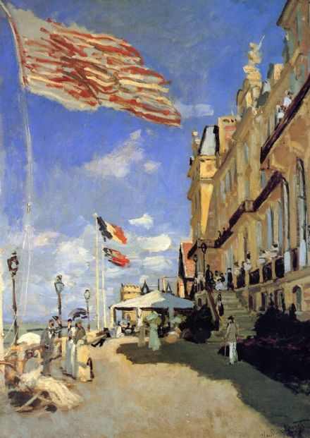 Monet, Claude: Hotel des Roches Noires at Trouville. Fine Art Print.  (00757)
